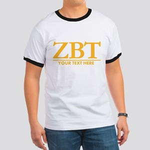 Zeta Beta Tau Fraternity Letters in Yellow with Pe