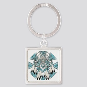 Dream Catcher Square Keychain