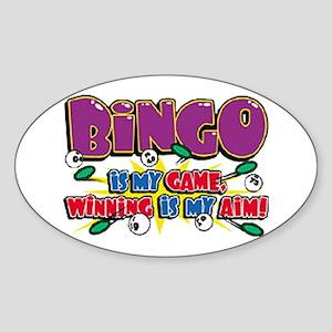 Bingo Winning Oval Sticker