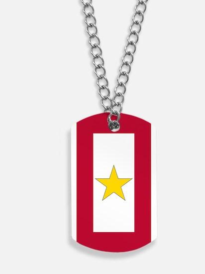 Gold Star Flag Dog Tags