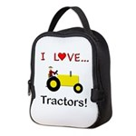 I Love Yellow Tractors Neoprene Lunch Bag