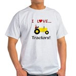 I Love Yellow Tractors Light T-Shirt