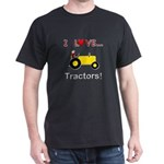 I Love Yellow Tractors Dark T-Shirt
