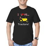 I Love Yellow Tractors Men's Fitted T-Shirt (dark)