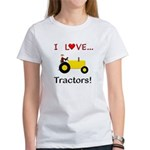 I Love Yellow Tractors Women's T-Shirt