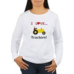 I Love Yellow Tractors Women's Long Sleeve T-Shirt