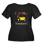 I Love Yellow Tractors Women's Plus Size Scoop Nec