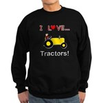 I Love Yellow Tractors Sweatshirt (dark)