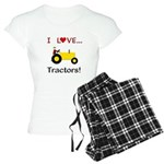 I Love Yellow Tractors Women's Light Pajamas