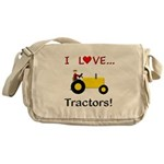 I Love Yellow Tractors Messenger Bag