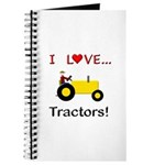 I Love Yellow Tractors Journal