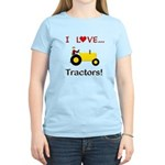 I Love Yellow Tractors Women's Light T-Shirt