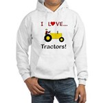 I Love Yellow Tractors Hooded Sweatshirt