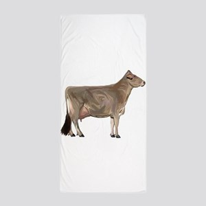 Brown Swiss Dairy Cow Beach Towel