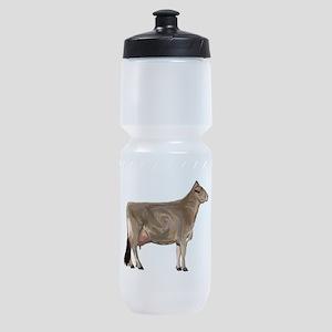 Brown Swiss Dairy Cow Sports Bottle