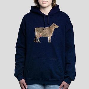 Brown Swiss Dairy Cow Hooded Sweatshirt