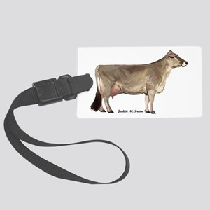 Brown Swiss Dairy Cow Large Luggage Tag