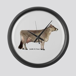 Brown Swiss Dairy Cow Large Wall Clock