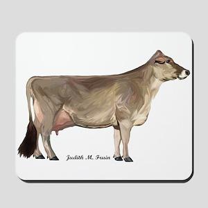 Brown Swiss Dairy Cow Mousepad