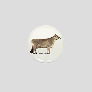Brown Swiss Dairy Cow Mini Button