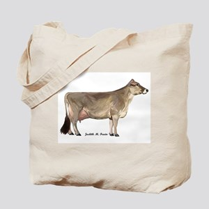 Brown Swiss Dairy Cow Tote Bag