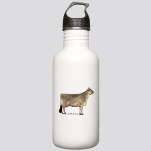 Brown Swiss Dairy Cow Stainless Water Bottle 1.0L