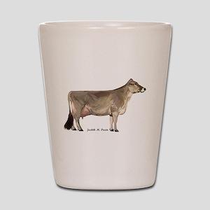 Brown Swiss Dairy Cow Shot Glass