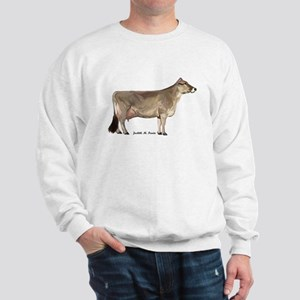 Brown Swiss Dairy Cow Sweatshirt