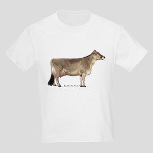 Brown Swiss Dairy Cow Kids Light T-Shirt