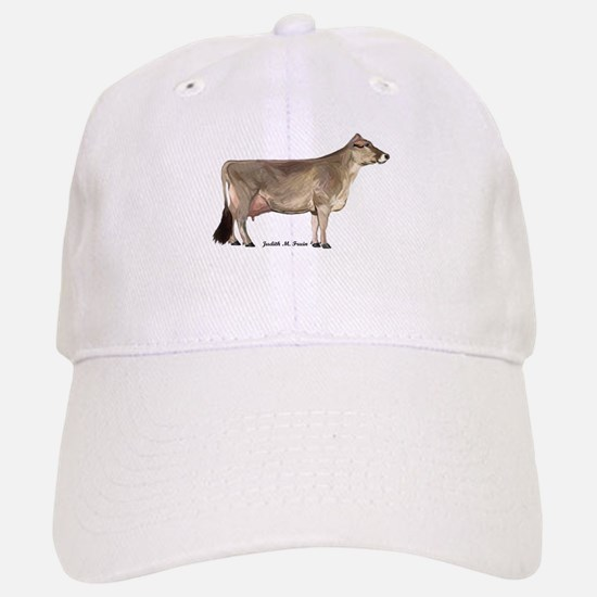 Brown Swiss Dairy Cow Baseball Baseball Cap