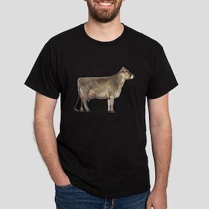 Brown Swiss Dairy Cow Dark T-Shirt