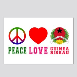 Peace Love Guinea Bissau Postcards (Package of 8)