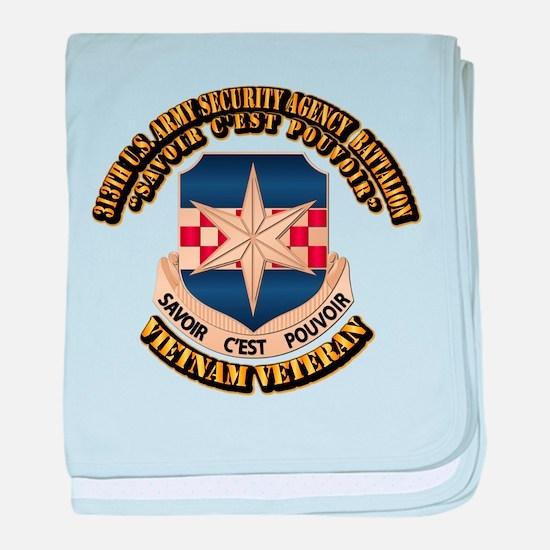 313th USA SAB baby blanket