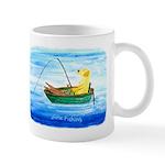 Yellow Labrador Fishing Dog Mug Mugs