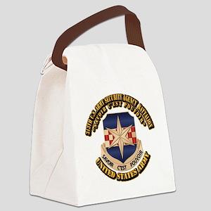 313th USA SAB w Text Canvas Lunch Bag