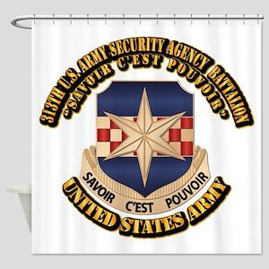 313th USA SAB w Text Shower Curtain