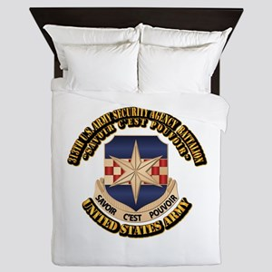 313th USA SAB w Text Queen Duvet