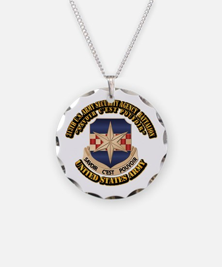 313th USA SAB w Text Necklace