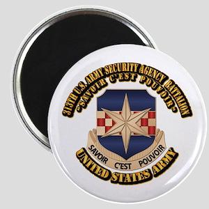 313th USA SAB w Text Magnet