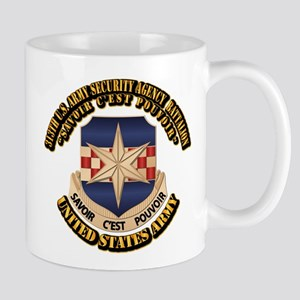 313th USA SAB w Text Mug