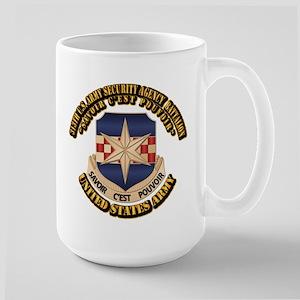 313th USA SAB w Text Large Mug