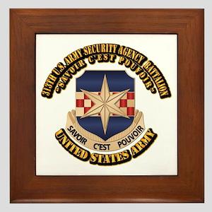 313th USA SAB w Text Framed Tile