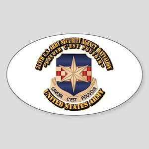 313th USA SAB w Text Sticker (Oval)
