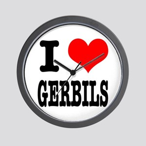 I Heart (Love) Gerbils Wall Clock