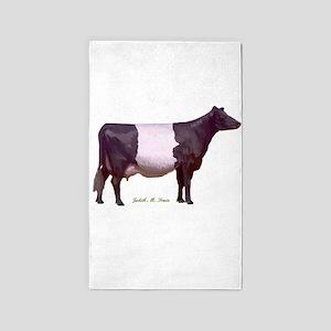 Dutch Belt Dairy Cow 3'x5' Area Rug