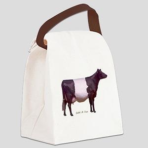 Dutch Belt Dairy Cow Canvas Lunch Bag