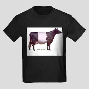 Dutch Belt Dairy Cow Kids Dark T-Shirt