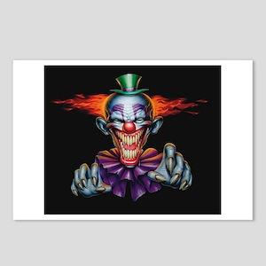 Killer Evil Clown Postcards (package Of 8)