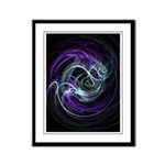 Light Within, Abstract Swirls Framed Panel Print