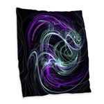 Light Within, Abstrac Purple Burlap Throw Pillow